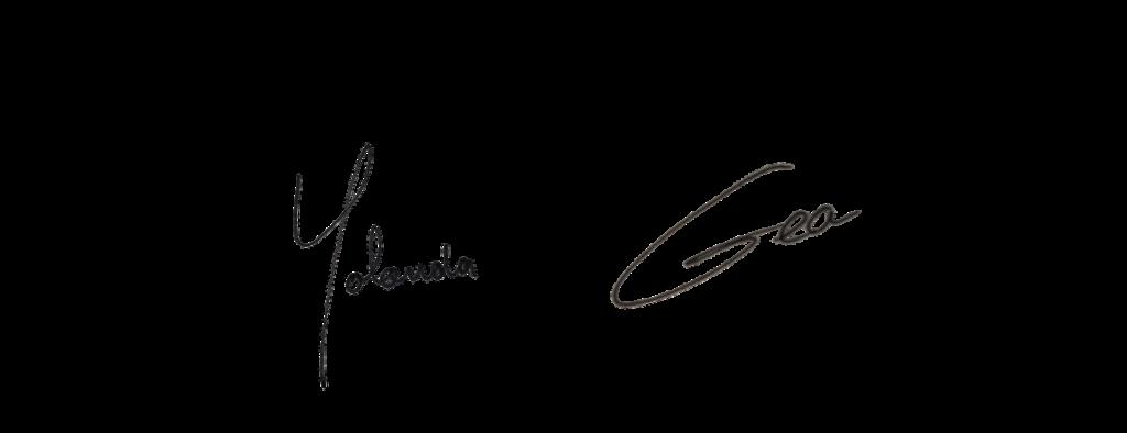 Yolanda van Dongen en Gea Zeilstra sign